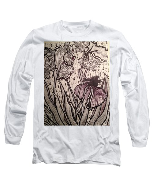 Long Sleeve T-Shirt featuring the painting Three Loves Nurished by Andrea Love