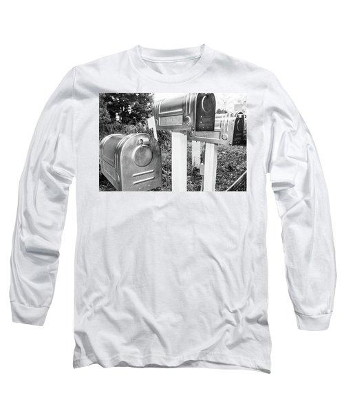 Three Mailboxes Long Sleeve T-Shirt