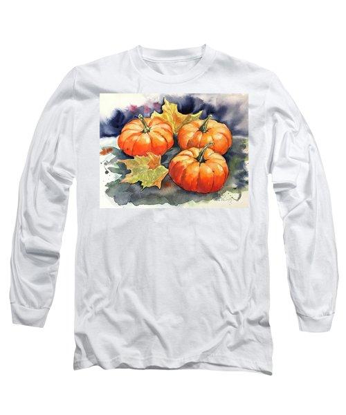 Three Pumpkins Long Sleeve T-Shirt
