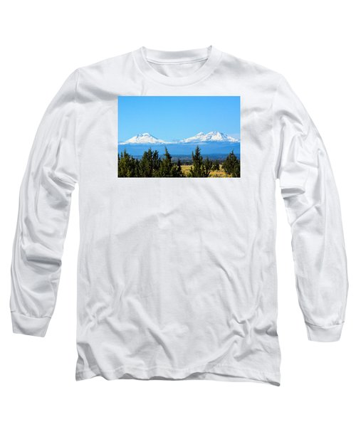 Three Sisters In The Fall Long Sleeve T-Shirt by Linda Larson