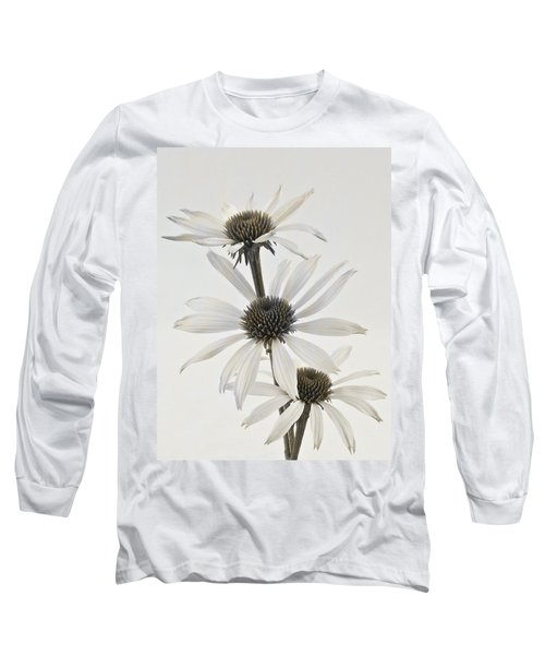 Three White Coneflowers Long Sleeve T-Shirt