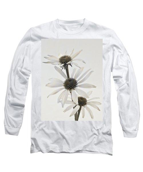 Three White Coneflowers Long Sleeve T-Shirt