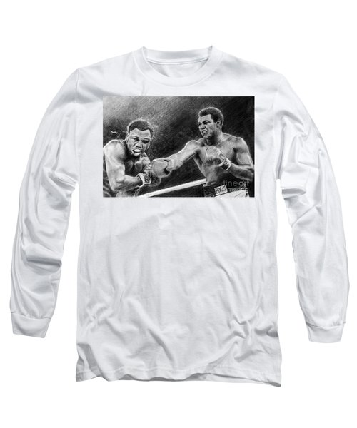 Thrilla In Manilla Pencil Drawing Long Sleeve T-Shirt