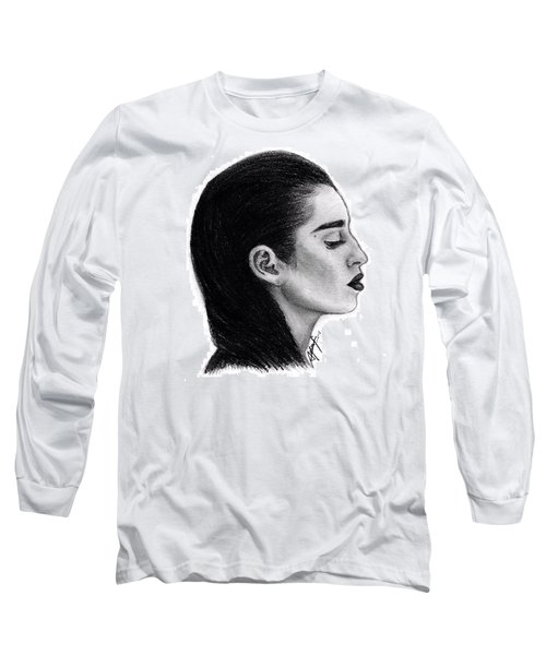 Lauren Jauregui Drawing By Sofia Furniel Long Sleeve T-Shirt by Sofia Furniel