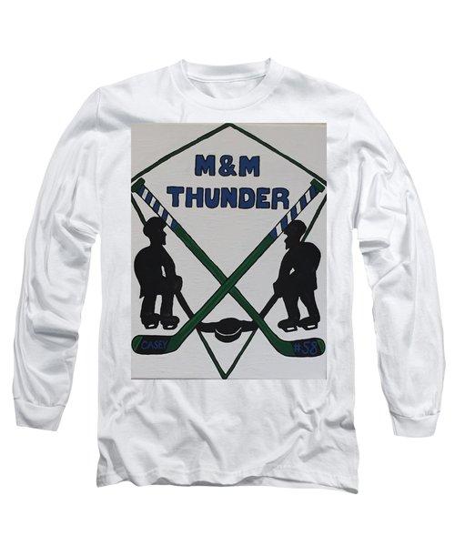 Thunder Hockey Long Sleeve T-Shirt by Jonathon Hansen