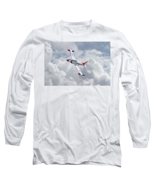 Long Sleeve T-Shirt featuring the photograph Thunderbirds - T33 by Pat Speirs