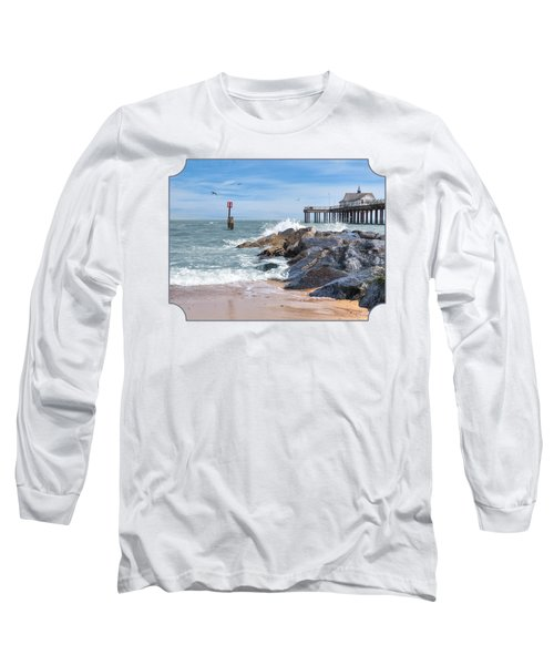 Tide's Turning - Southwold Pier Long Sleeve T-Shirt by Gill Billington