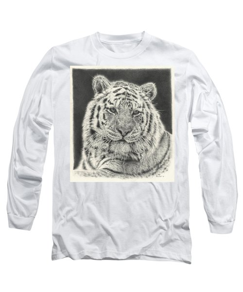 Tiger Drawing Long Sleeve T-Shirt