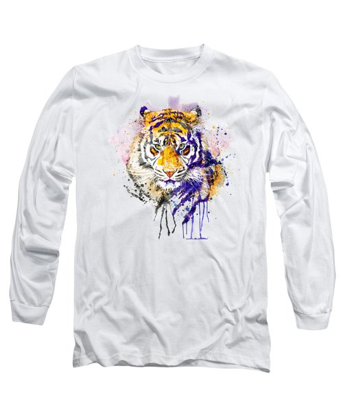 Tiger Head Portrait Long Sleeve T-Shirt