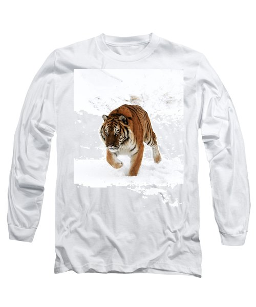 Tiger In Snow Long Sleeve T-Shirt