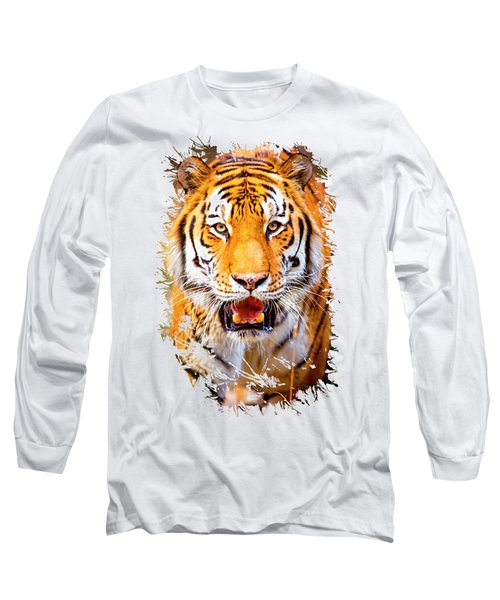 Tiger On The Hunt Long Sleeve T-Shirt