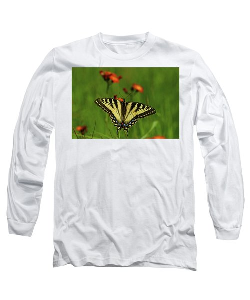 Tiger Swallowtail Butterfly Long Sleeve T-Shirt by Nancy Landry
