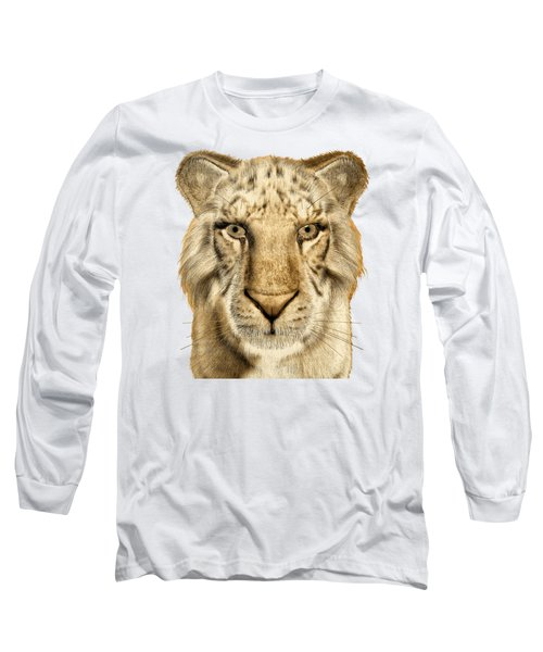 Long Sleeve T-Shirt featuring the painting Tigers by Methune Hively