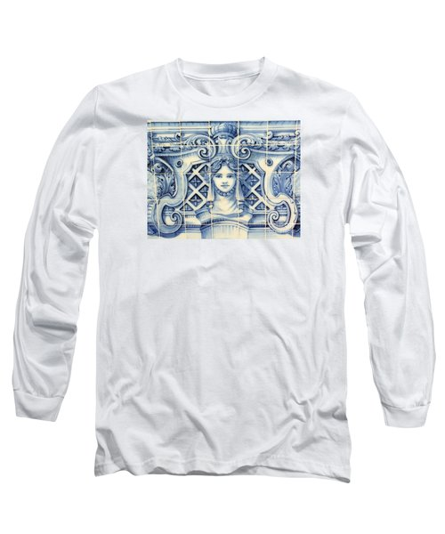 Tile Art In Fort Of Luanda, Angola Long Sleeve T-Shirt