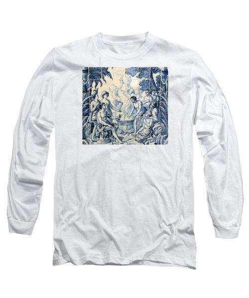 Tile Art Long Sleeve T-Shirt by John Potts