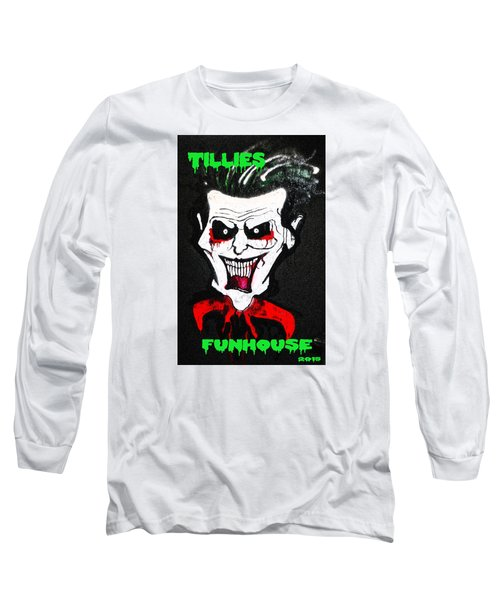 Long Sleeve T-Shirt featuring the painting Tillies Vamp by Patricia Arroyo