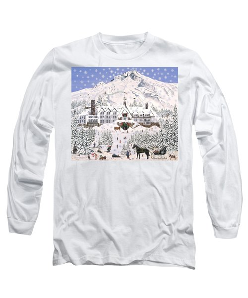 Long Sleeve T-Shirt featuring the painting Timberline Lodge by Jennifer Lake