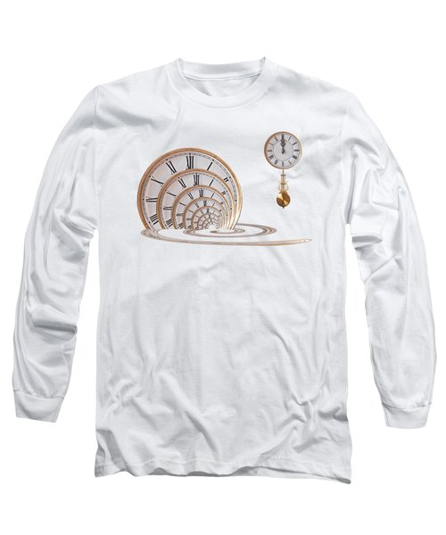 Time Portal In Red Long Sleeve T-Shirt