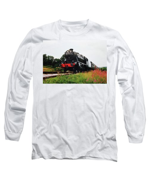 Long Sleeve T-Shirt featuring the photograph Time Travel By Steam by Martin Howard