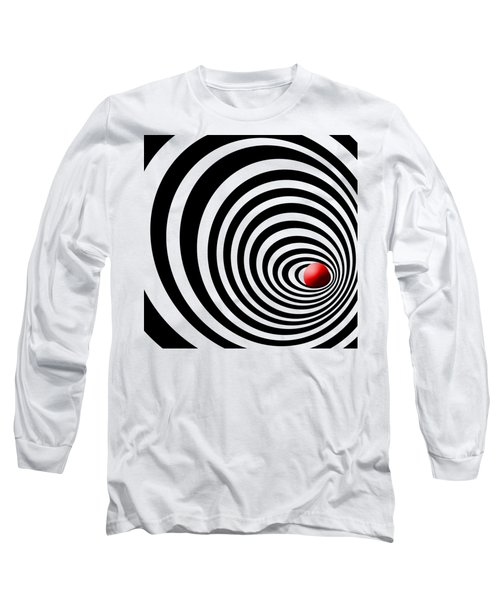 Time Tunnel Op Art Long Sleeve T-Shirt by Methune Hively