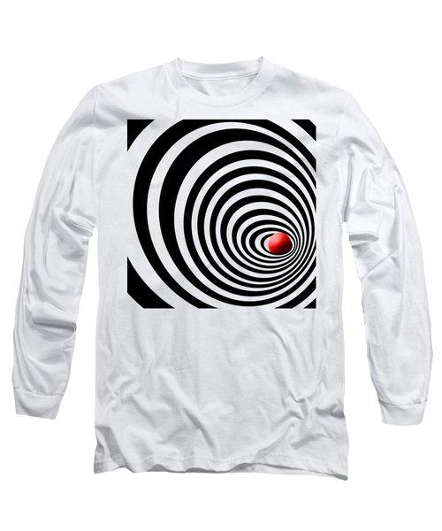 Time Tunnel Op Art Long Sleeve T-Shirt