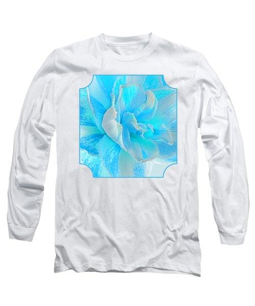 Timeless Beauty In Blue Long Sleeve T-Shirt
