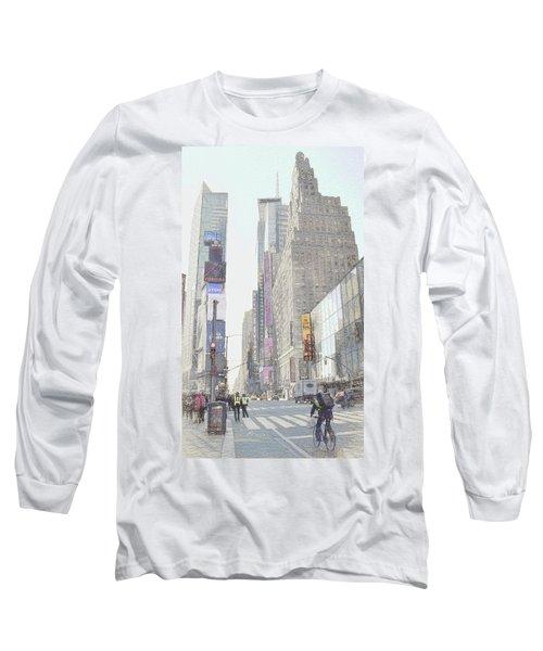 Times Square Street Scene Long Sleeve T-Shirt