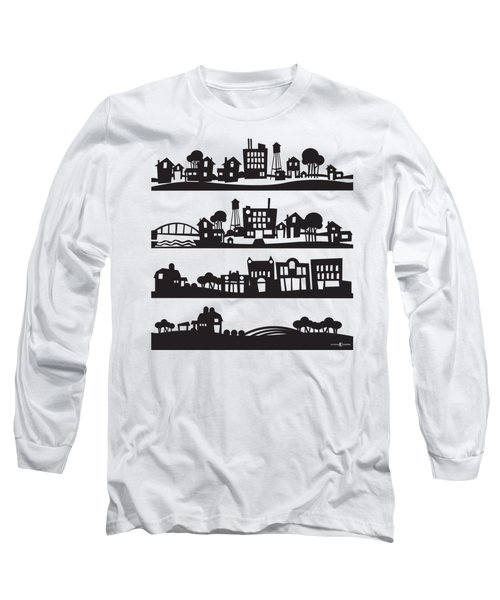 Tinytown Stacked Long Sleeve T-Shirt