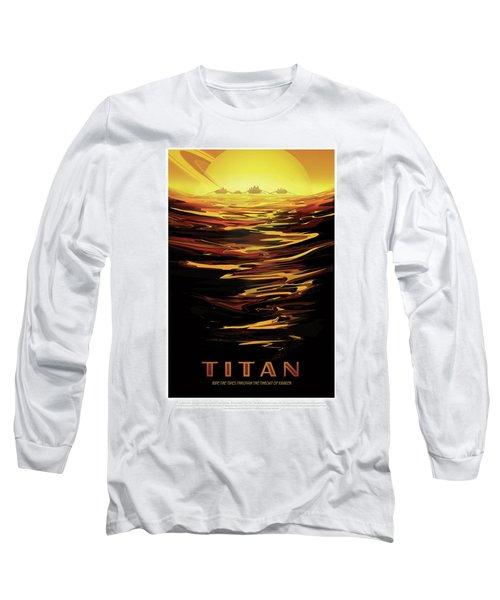 Titan - Ride The Tides Through The Throat Of Kraken - Vintage Na Long Sleeve T-Shirt