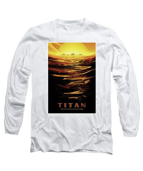 Titan - Ride The Tides Through The Throat Of Kraken - Vintage Na Long Sleeve T-Shirt