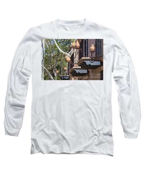Long Sleeve T-Shirt featuring the photograph Tlaquepaque Balconies by Chris Dutton
