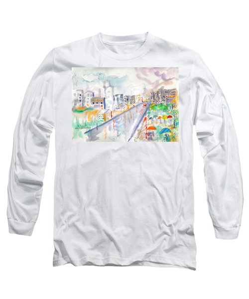 To The Wet City Long Sleeve T-Shirt by Mary Armstrong