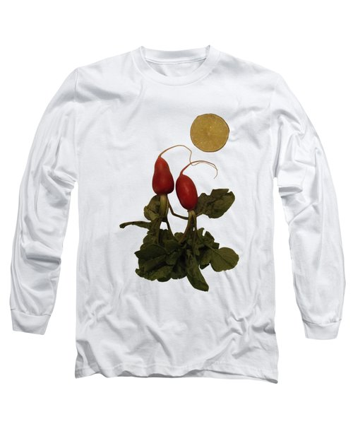 Together Under The Citrus Moon - On White Long Sleeve T-Shirt
