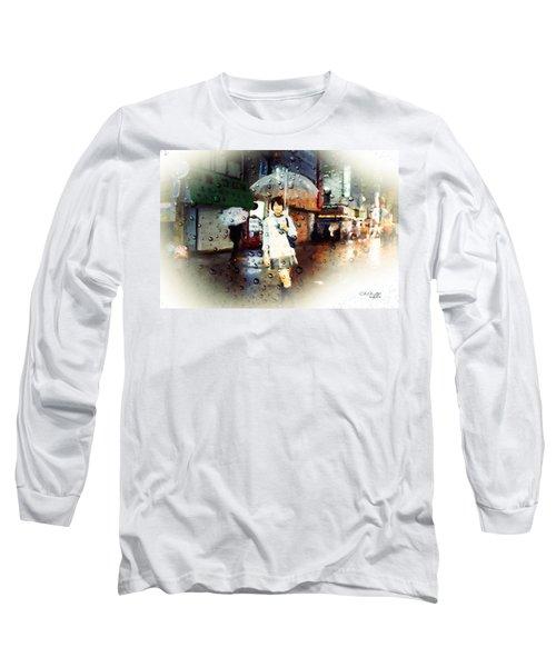 Rainy Tokyo Night Long Sleeve T-Shirt