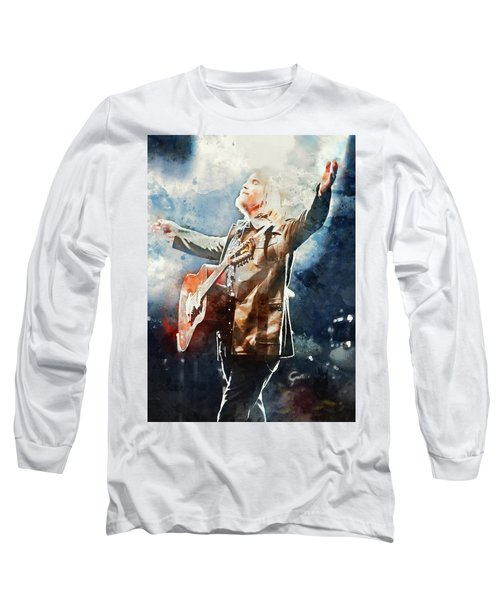 Tom Petty - Watercolor Portrait 13 Long Sleeve T-Shirt