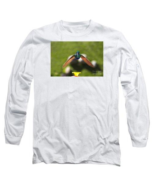 Tom Thumb Says Happy New Year Long Sleeve T-Shirt by Al Bourassa