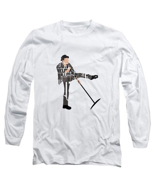 Tom Waits Typography Art Long Sleeve T-Shirt