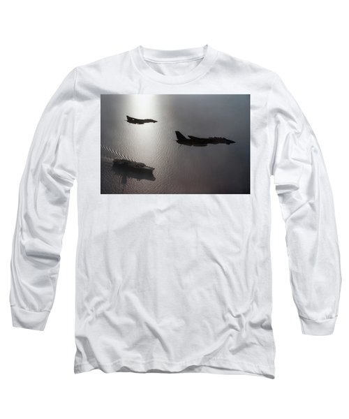 Long Sleeve T-Shirt featuring the photograph Tomcat Silhouette  by Peter Chilelli