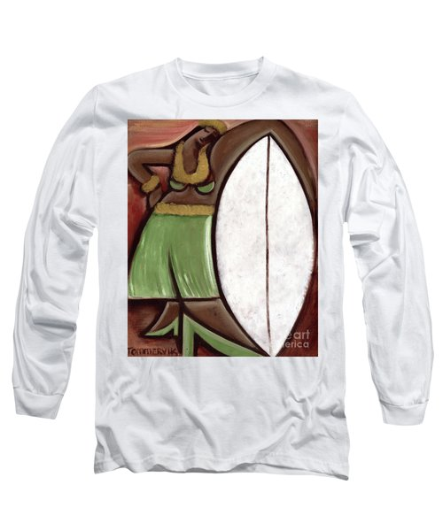 Tommervik Hula Girl Surfboard Art Print Long Sleeve T-Shirt