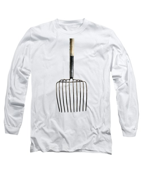 Tools On Wood 25 On Bw Long Sleeve T-Shirt by YoPedro