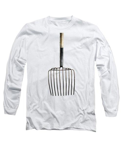 Tools On Wood 25 On Bw Long Sleeve T-Shirt