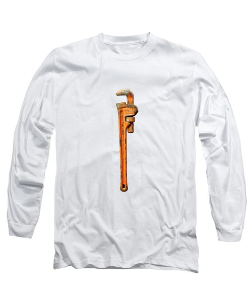 Tools On Wood 60 On Bw Long Sleeve T-Shirt by YoPedro