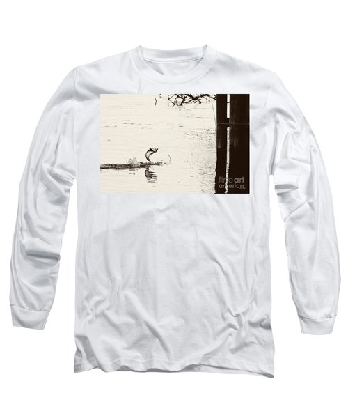 Top Water Explosion Long Sleeve T-Shirt by Scott Pellegrin