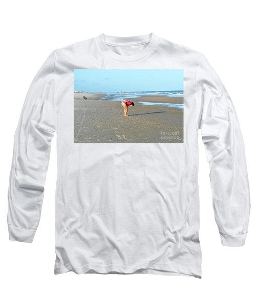 Topsail Island Beach Long Sleeve T-Shirt by Eva Kaufman