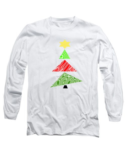 Topsy Turvy Christmas Tree Long Sleeve T-Shirt by Kathleen Sartoris