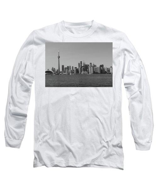 Toronto Cistyscape Bw Long Sleeve T-Shirt