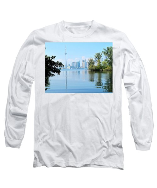 Toronto From The Islands Park Long Sleeve T-Shirt by Ian  MacDonald