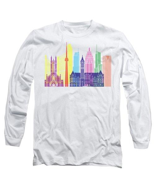 Toronto V2 Skyline Pop Long Sleeve T-Shirt
