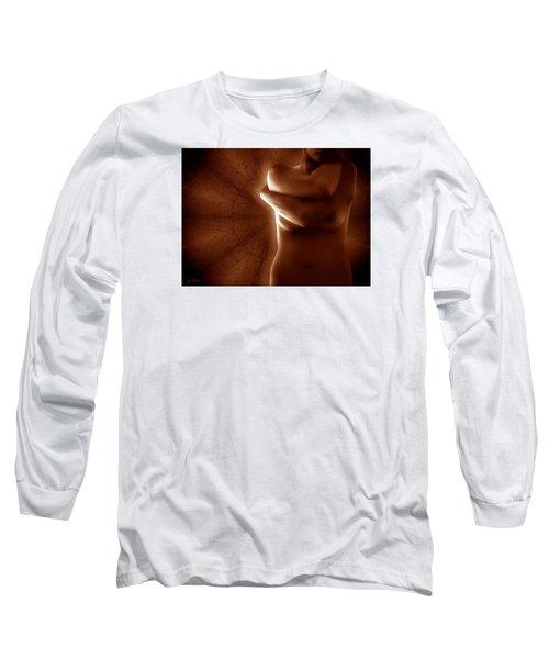Torso In Russet Long Sleeve T-Shirt by Joe Bonita