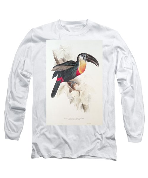 Toucan Long Sleeve T-Shirt by Edward Lear